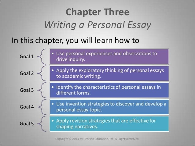 chapter writing a personal essay