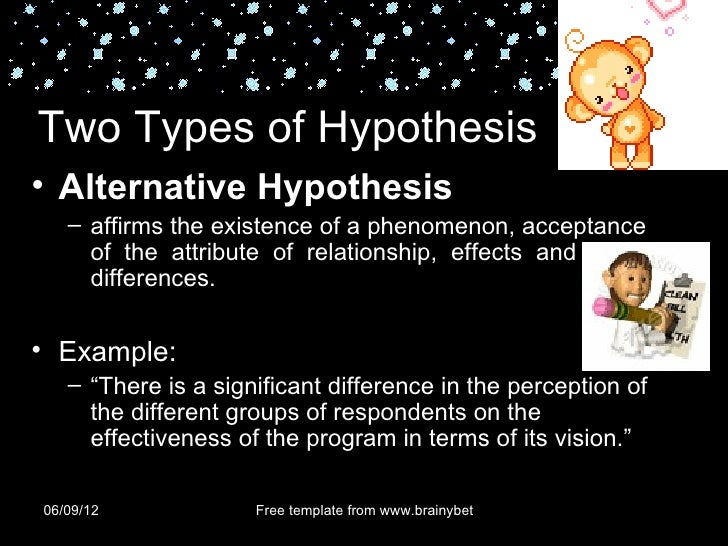 Alternative hypothesis meaning