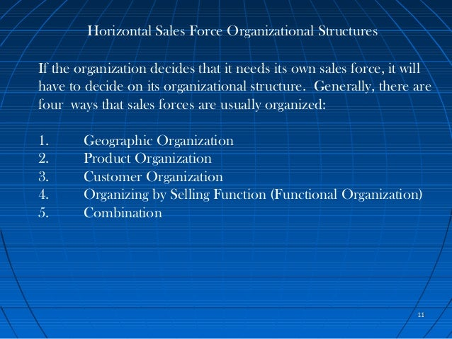 Chapter 4 sales organizations