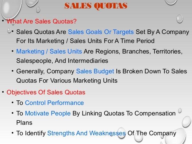 sales territories and quotas