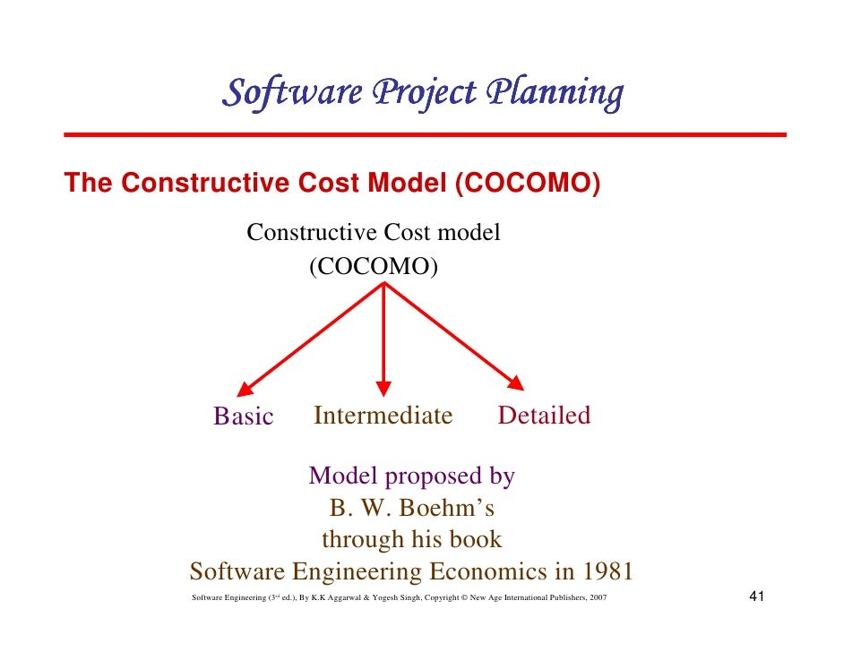 an understanding of the constructive cost model cocomo Which is allowing a better understanding of the different variables to be  considered, and the  cost estimation model like the constructive cost model ( cocomo) (boehm, 1981) and of dynamic cost esti- mation models also a  hierarchical.