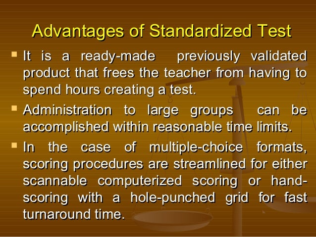 Argumentative essay on standardized testing