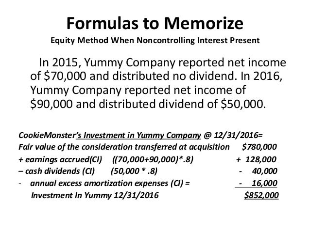 equity method exercise Accounting for investment in associates ias 28 defines the equity method as a method of accounting whereby the investment is the eventual exercise of those.
