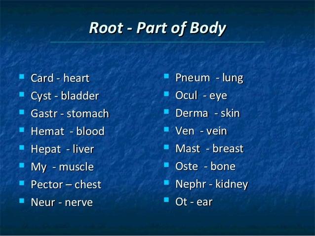 Gastritis Root Word