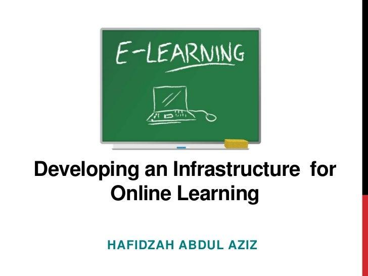 Developing an Infrastructurefor       Online Learning       HAFIDZAH ABDUL AZIZ