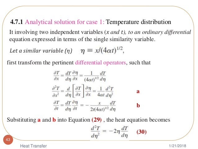 Chapter 4 transient heat condution
