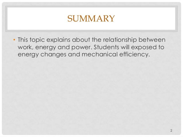 Chapter 4 work, energy and power