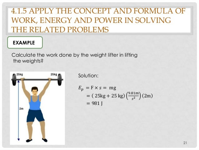 Energy work and power worksheet ch 5 1