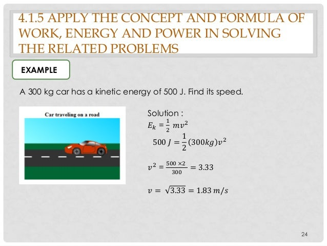 kinetic energy examples with solution