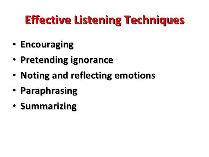 Chapter 5: Listening & Responding Skills