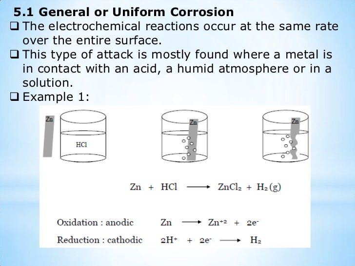 Corrosion can occur in a gaseous environment (dry corrosion) or a wet environment (wet corrosion).