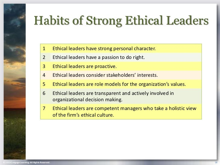 habits of strong ethical leaders Ethics and leadership authors authors and affiliations alex j plinioco-founder  alex j plinioco-founder 1 1management and global.