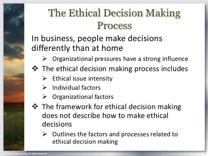 Ethical Decision-Making Process&nbspTerm Paper