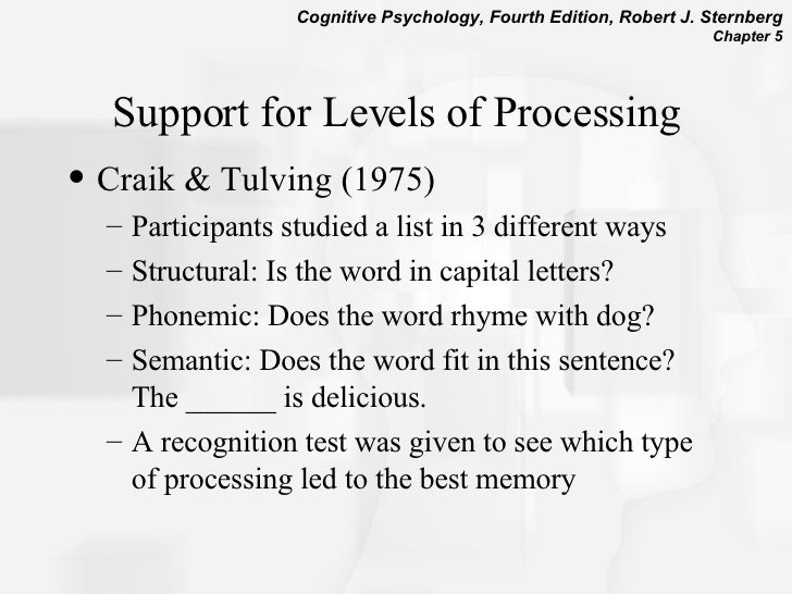 craik and tulving 1975