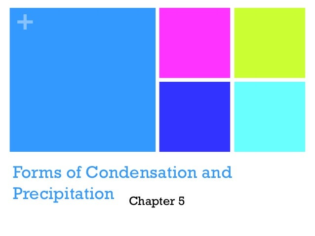 +Forms of Condensation andPrecipitation Chapter 5