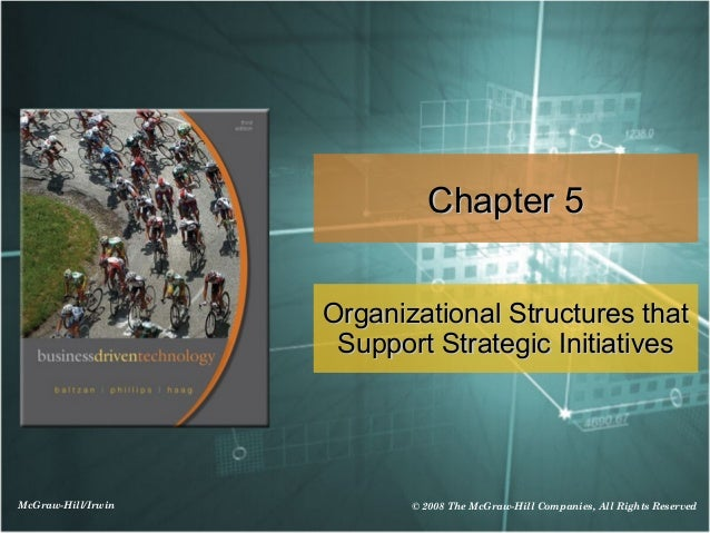 Chapter 5                    Organizational Structures that                     Support Strategic InitiativesMcGraw-Hill/I...