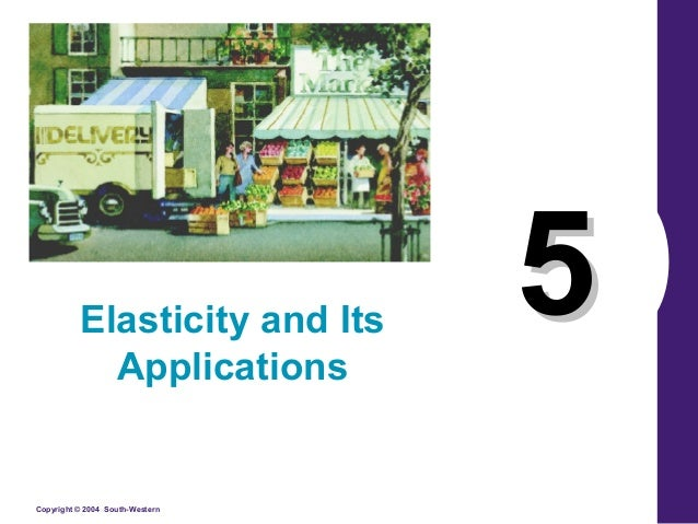 Copyright © 2004 South-Western 55Elasticity and Its Applications