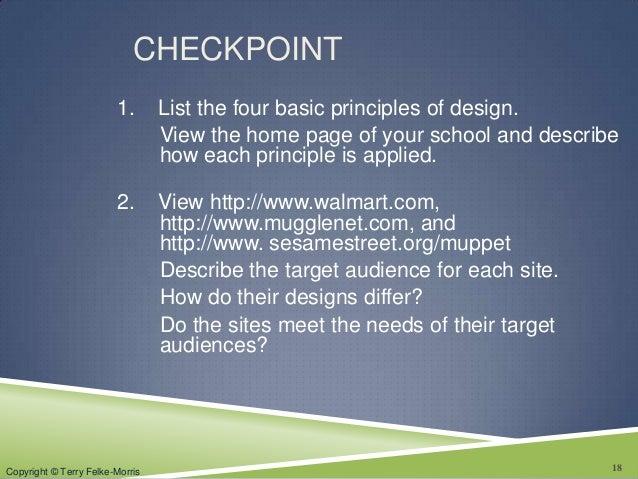 Principles Of Design List : Chapter web design