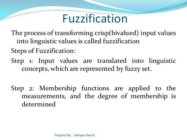 Defuzzification.