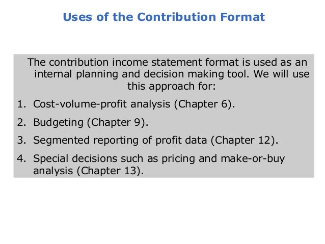 segmented income statement in contribution format Including currencies, assets, liabilities, equity, income, expenses, business combinations and interim financial statements ias 39 – achieving hedge accounting in practice covers in detail the practical issues in achieving hedge accounting under ias 39 it provides answers to frequently asked questions and step-by-step.
