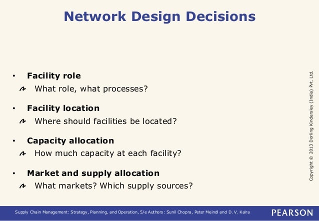 chapter 5 chopra meindl Chapter 4 designing distribution networks and applications to e-business ---chapter 5 network design in the supply chain ---chapter 6 designing global supply chain networks ----part iii planning and coordinating demand and supply in a supply chain  sunil chopra, peter meindl.