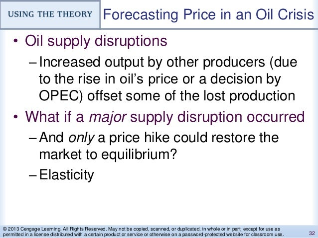 Forecasting Price in an Oil Crisis • Oil supply disruptions –Increased output by other producers (due to the rise in oil's...