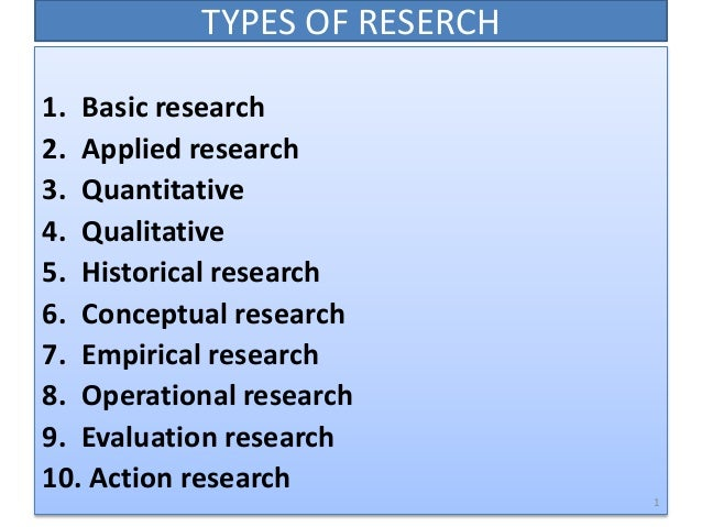 Applied vs fundamental research