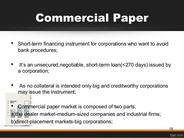 Learn more about Commercial Paper