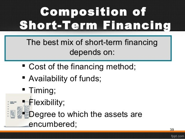 short term financing Short-term financing bonds refer to the bond financing instrument issued by the non-financial enterprises with legal person qualification in the inter-bank bond market who promise to repay the principal and pay the interest within one year the short-term financing bond provides enterprises with a kind of short-term direct.