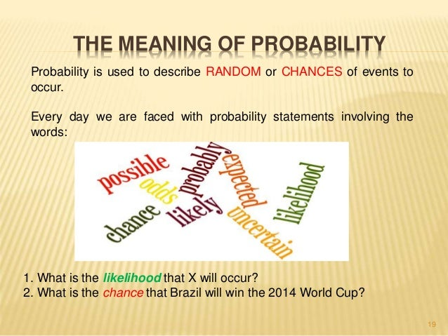 The relevance of statistics and probability