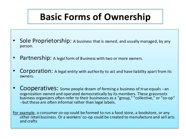 Chapter 5 how to form business