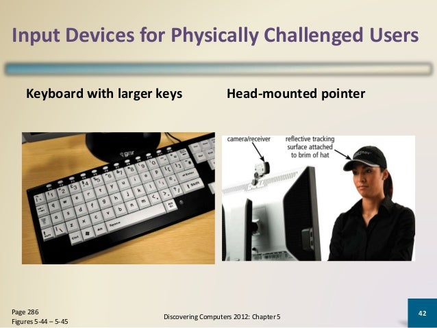 input and or output devices designed for physically challenged computer users Input and output devices for physically challenged users,  computer input device for disabled  output devices designed for users with.
