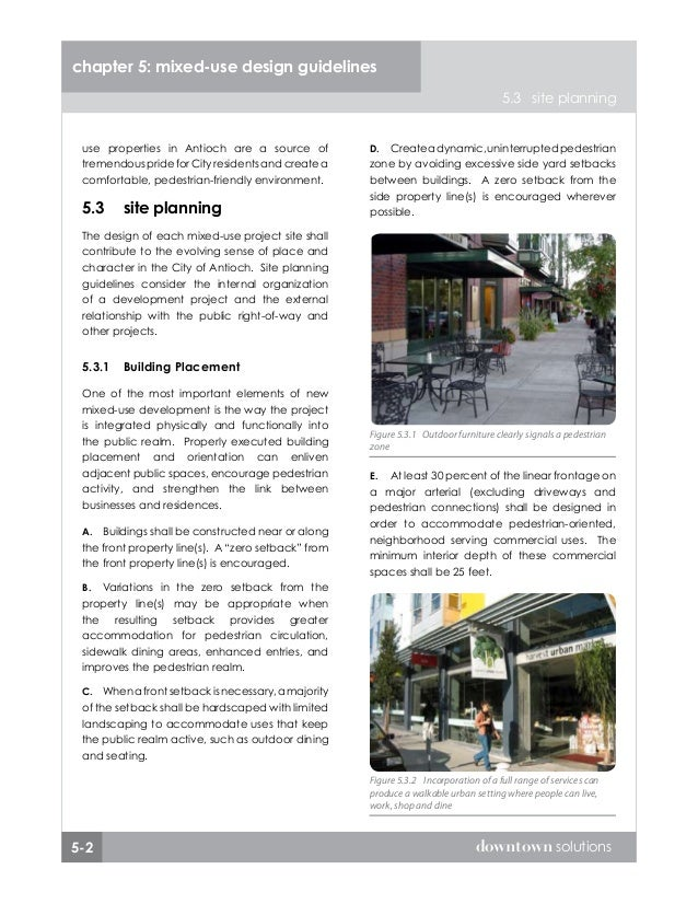 Chapter 5 Mixed Use Design Guidelines