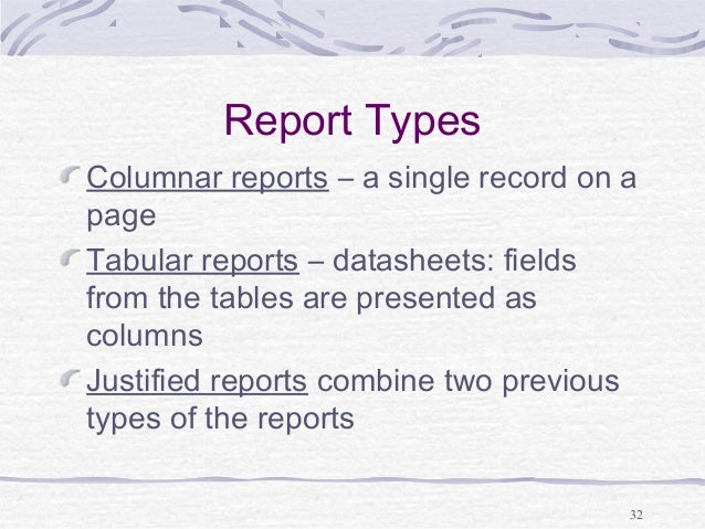 Image result for columnar report in ms access