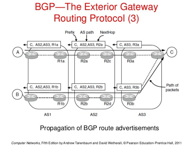Network layer description and features including protocols advantages for Exterior gateway protocol examples