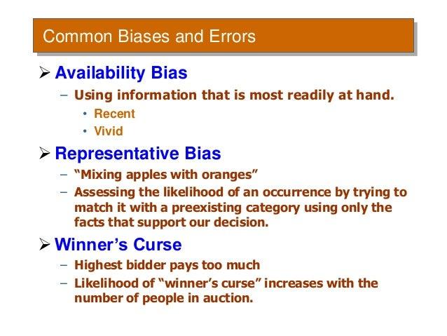 Biases in Decision Making | Organizational Behavior and ...