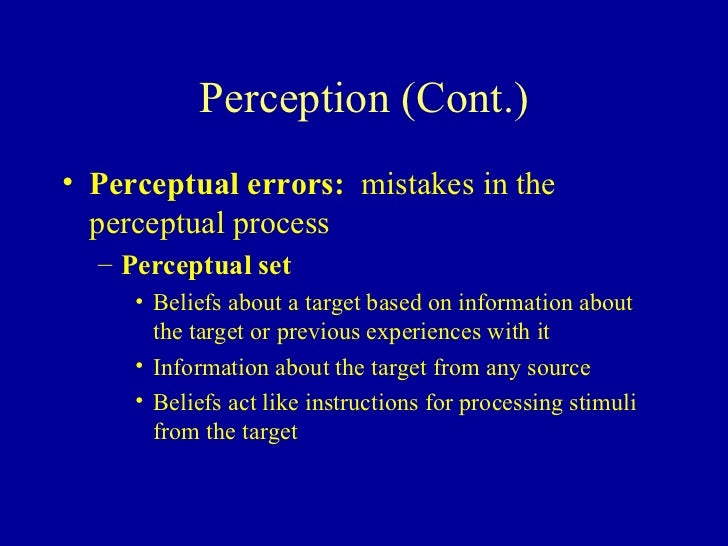 five common perceptual errors Some organizational implications of perceptual and attributional biases   define five major judgment tendencies or errors that people commonly commit.