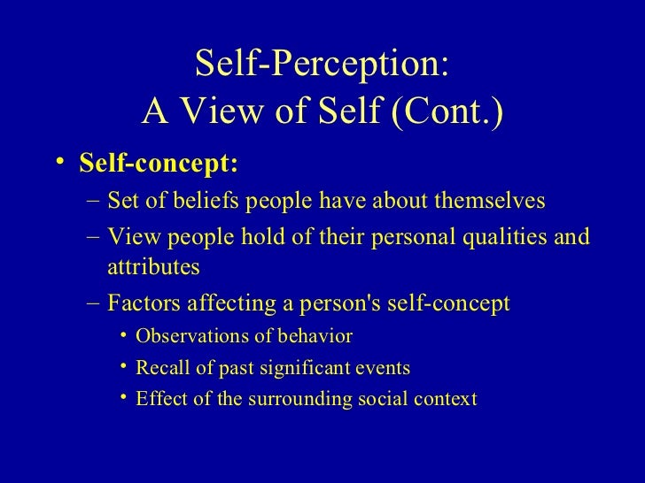 perceptions and beliefs of self esteem Self-beliefs and school success:  but the difference between self-efficacy and self-esteem beliefs is not  unrealistically low self-efficacy perceptions,.
