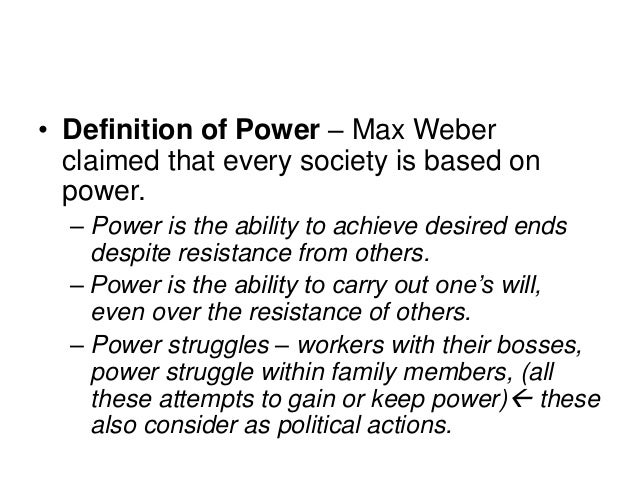 power and authority in the What is power power is a personal trait that affects people at every social level of their lives power can be gained through experience and lost through.