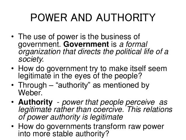 types of power and authority