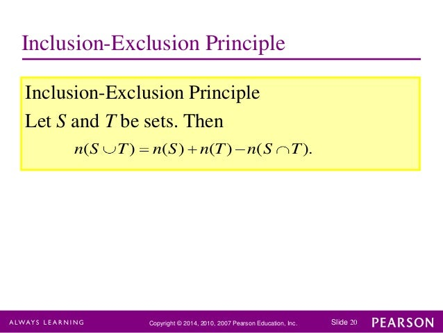 Principle Of Inclusions Definition