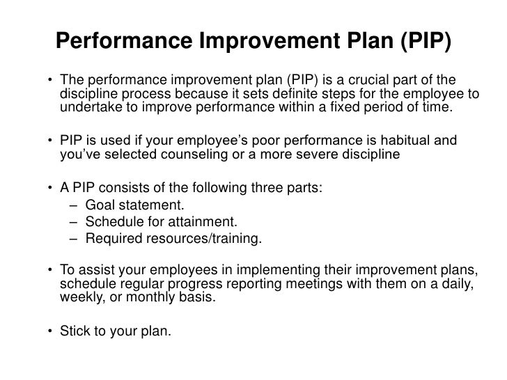 employee improvement plans