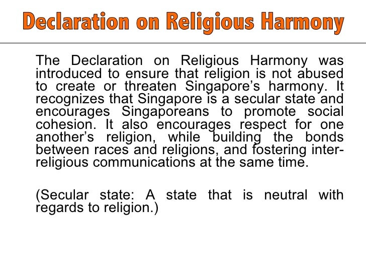 religious harmony essay Home / complete-works / volume 2 / reports in american newspapers / religious harmony (saginaw evening news, march 22, 1894) swami vive kananda, the much talked of hindoo monk, spoke to a small but deeply interested audience last evening at the academy of music on the harmony of religions.