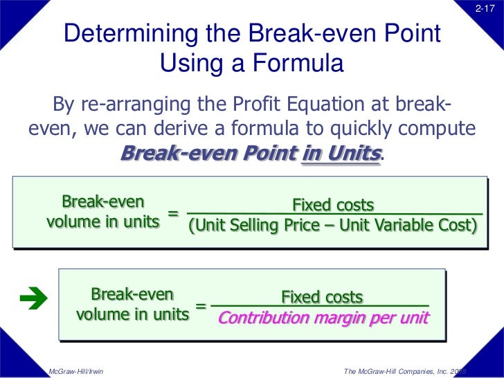cvp analysis break even analysis Cost-volume-profit (cvp) analysis is one of the major tools of financial analysis  managers  an introduction to conducting a cost-volume-profit analysis   learn how to calculate a breakeven point with this helpful formula.