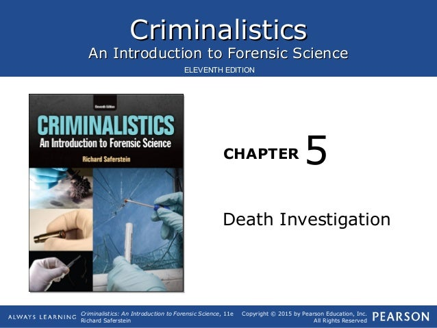 intro to criminalistics