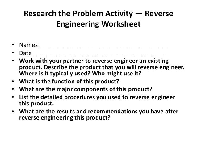 Chapter 5 design projects – Engineering Design Process Worksheet