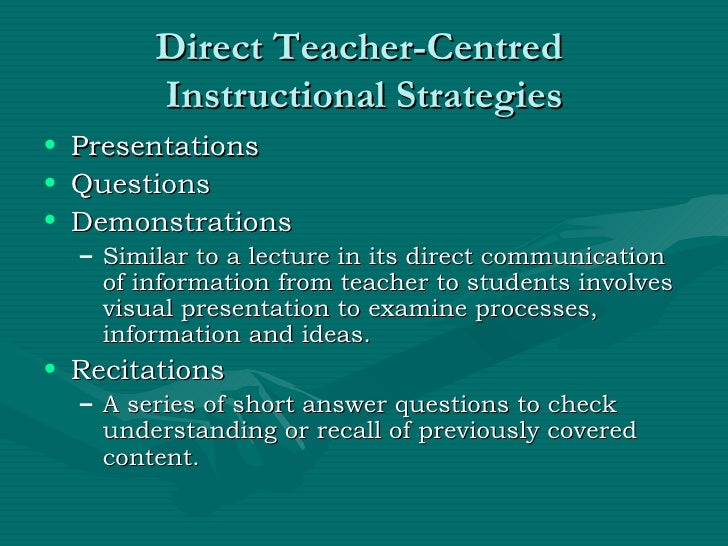 Chapter 5 Direct Instruction