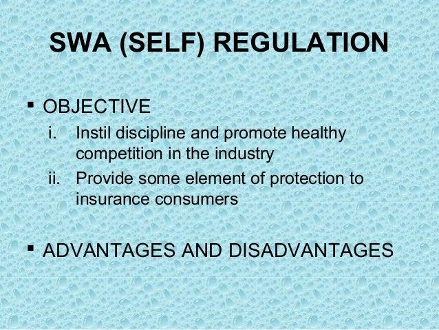 advantages of self regulation