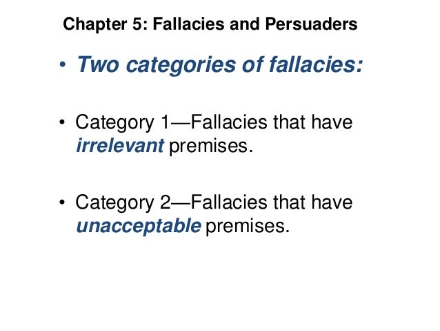 Identify Fallacy in Arguments
