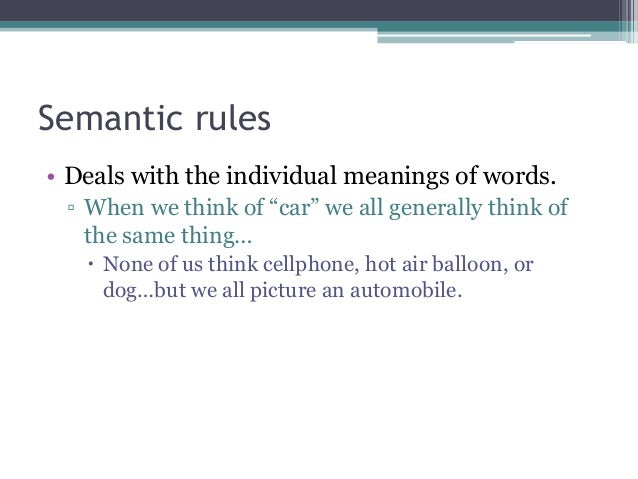 Pragmatic rules definition